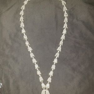 Vintage bell pearl necklace